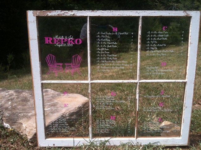 Window Pane Wedding Seating Charts Wedding Details Pinterest