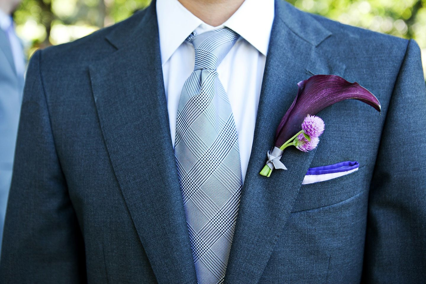 elegant-grooms-attire-for-outdoor-malibu-wedding-gray-suit-calla ...