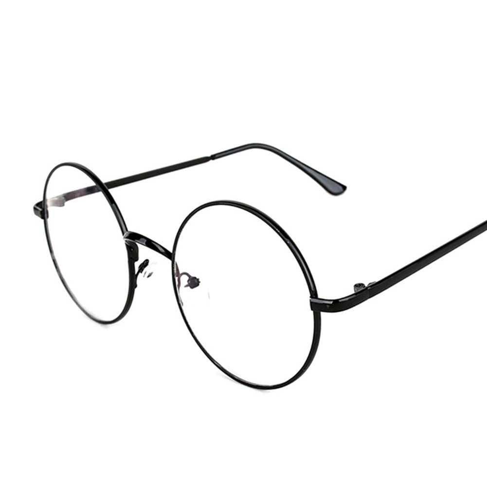 e81777e32f28 Large Oversized Metal Frame Clear Lens Round Circle Vintage Eye Glass  5.42Inch