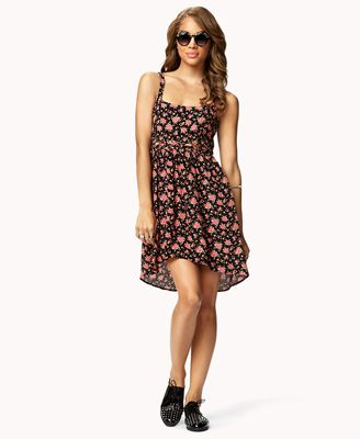 Lattice Cutout Floral Dress | FOREVER 21 - 2050575041
