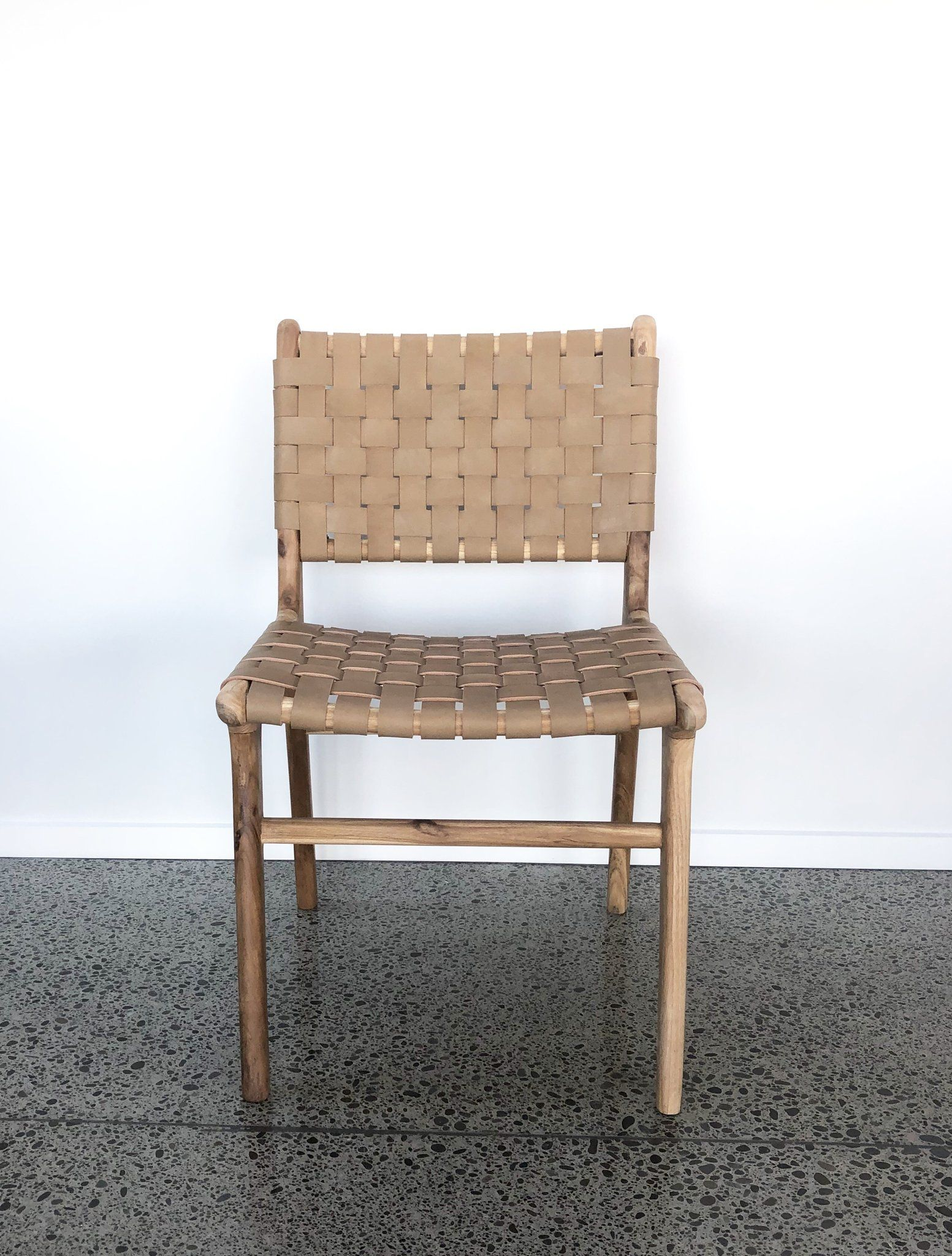 Tan Leather Weave Dining Chair Woven Dining Chairs Dining Chairs Chair
