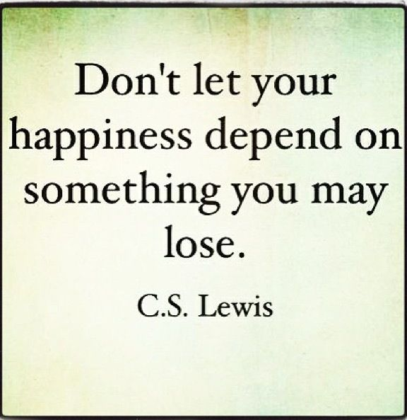 Happiness depends on you