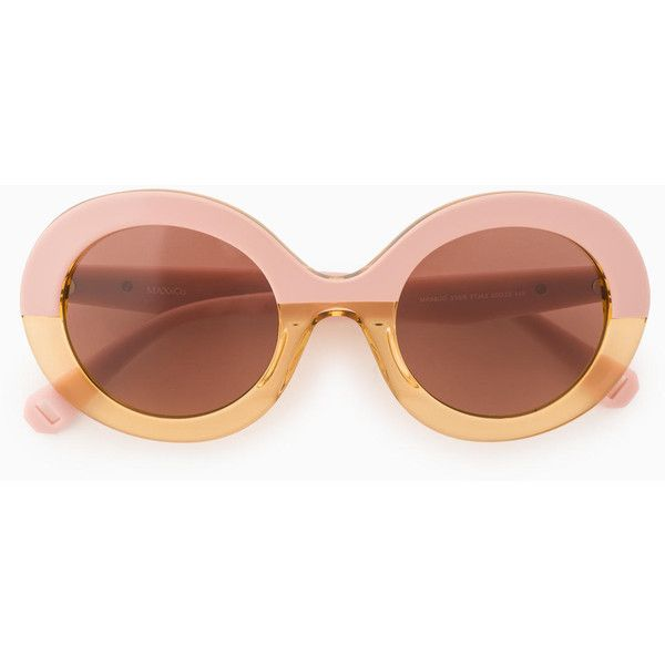 48862a13a4 Oval colour-block sunglasses (756330 PYG) ❤ liked on Polyvore featuring  accessories