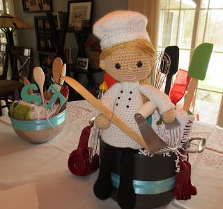 Chef doll for a bridal shower. (Sorry, no pattern.)