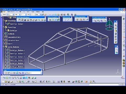 A Rollcage Catia V5 Knowledgeware Training Powercopy User Feature Mechanical Engineering Design Solidworks Tutorial Structure Design