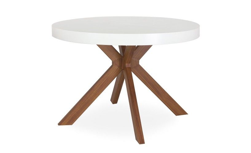 Table Ronde Extensible Myriade Blanc Table Ronde Extensible Table Ronde Design Table Ronde Rallonge