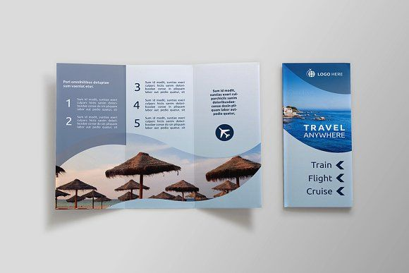 Travel TriFold Brochure  Dal By Nexdesign On Creativemarket