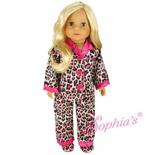 Animal Print Satin Pajamas and Slippers   Doll Clothes   Pinterest