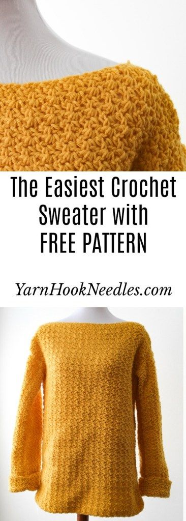 Photo of Try The Easiest Crochet Sweater You'll Ever Make!