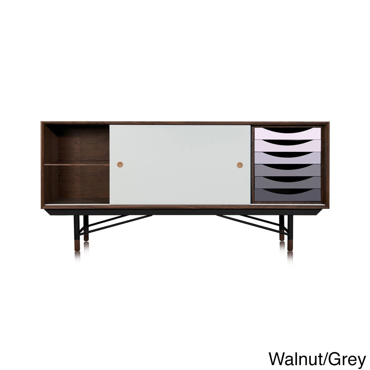 Kardiel 1955 Color Theory Mid-century Modern Gradient Drawers Credenza Cabinet (