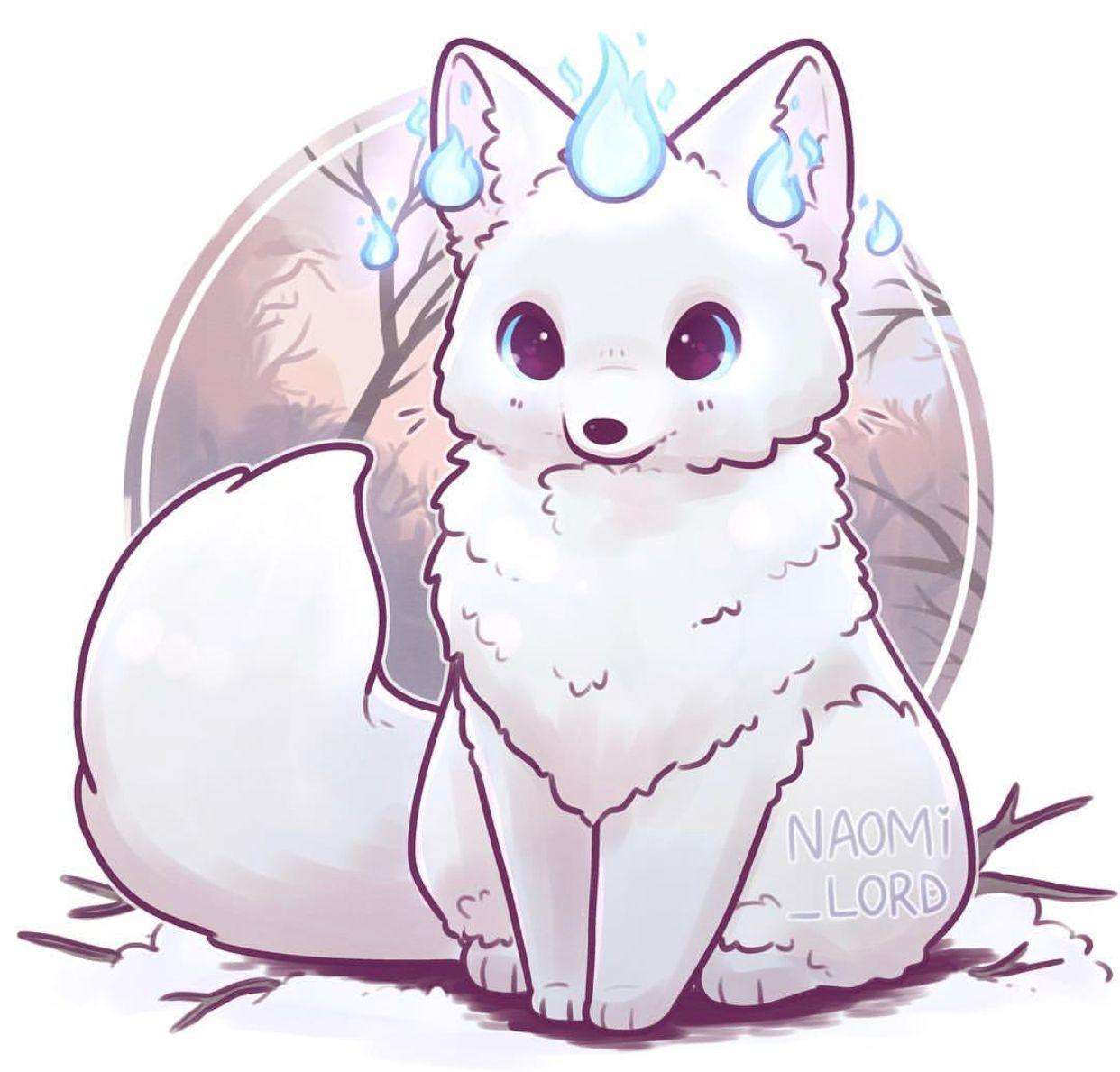 A Winter Fox Naomi Lord Cute Animal Drawings Cute Kawaii Drawings Cute Animal Drawings Kawaii