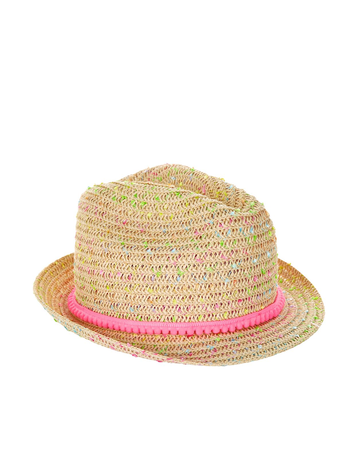 276da8bc Accessorize | Sherbet Speckled Straw Hat | Multi | 3-6 Years | Girls ...