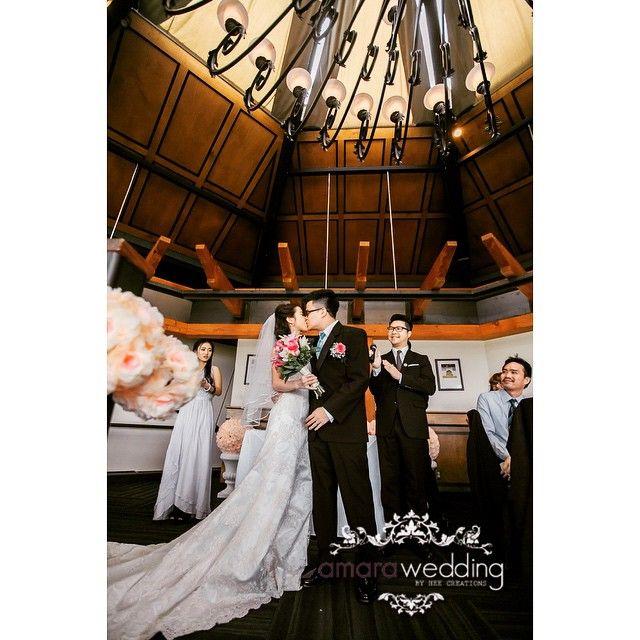 cool vancouver wedding Seal with a kiss @vancityofficiant Photo by Snow @amarawedding . Venue @seasonsinqepark #bride #groom #brideandgroom #VOinaction by @amarawedding  #vancouverwedding #vancouverwedding
