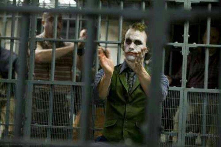 Commissioner Gordon The Joker done by Heath Ledger in The Dark Knight