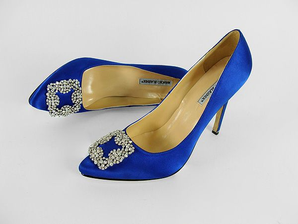 Manolo blahnik blue shoes sex and the city