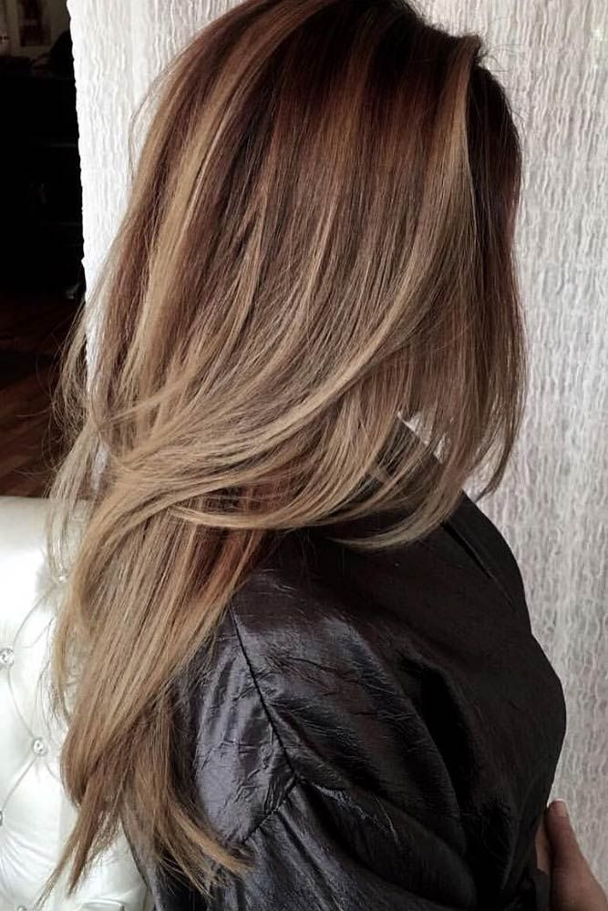 Long straight haircut styles with layers