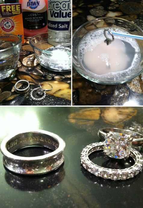 DIY Jewelry Cleaner: 1 Cup Hot Water, Tin Foil Over The