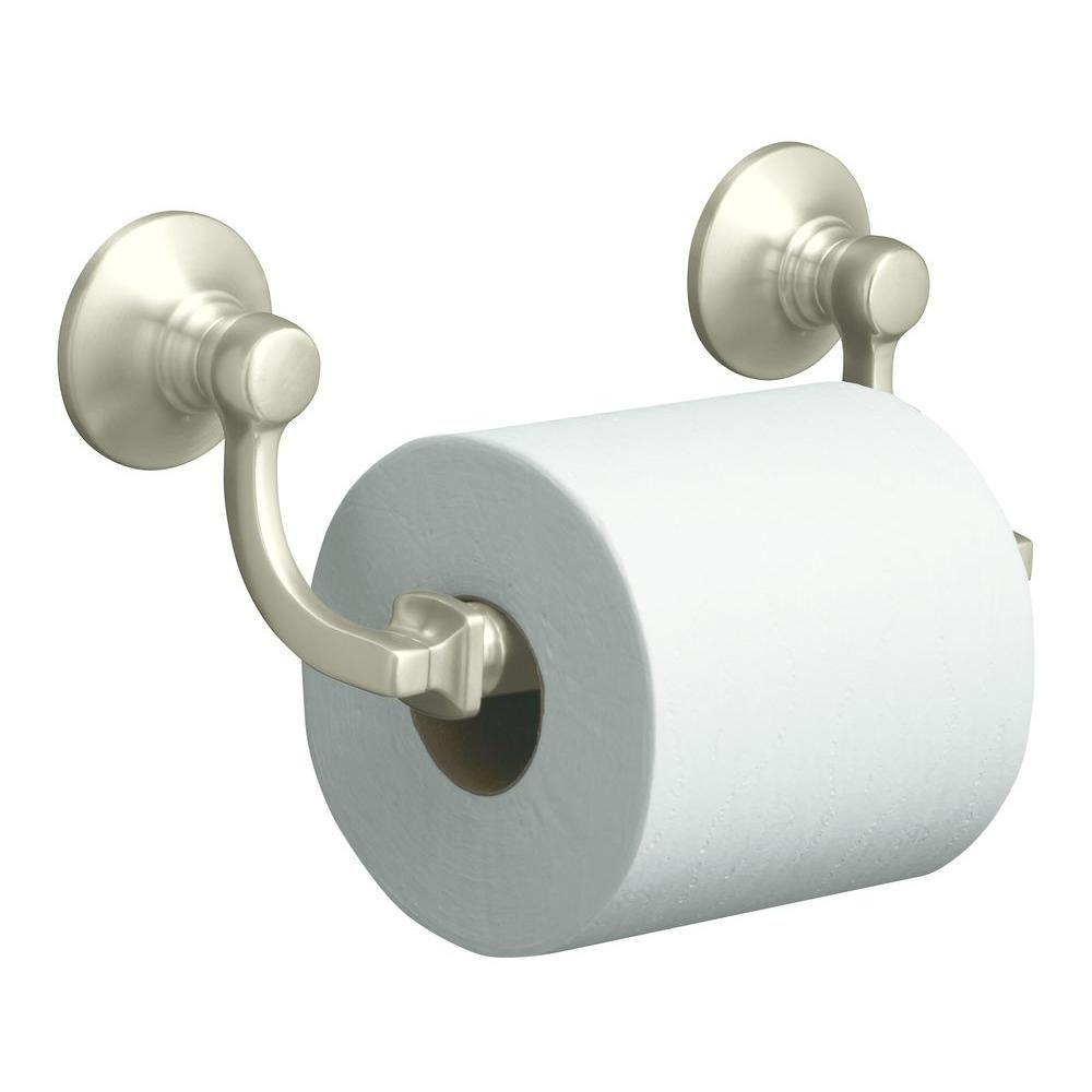 Kohler Bancroft Wall Mount Double Post Toilet Paper Holder In