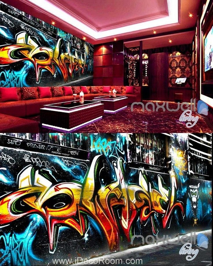 3d graffiti monkey king wall murals paper art print decals