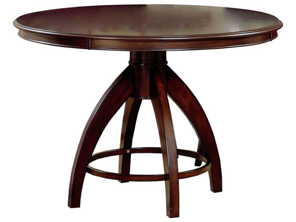 Hillsdale Furniture Dining Room Nottingham Round Pedestal Dining Table  4077 812   Blockers Furniture