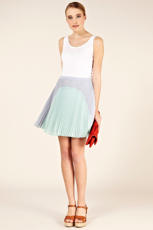 7ce28a882f Colourblock Pleated Skirt