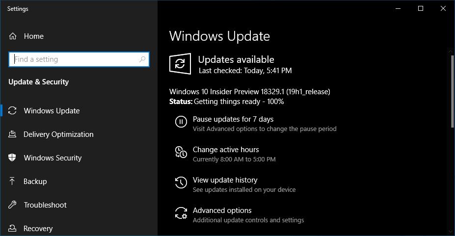 Windows 10 Build 18329 brings desktop programs in mixed