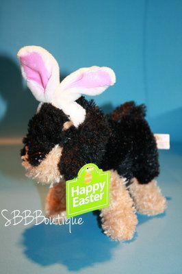 New Dan Dee 8 Plush Black Brown Dog Bunny Ears Walmart Happy