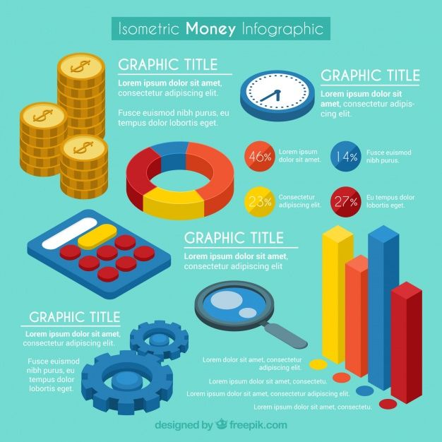 Isometric money infographic template Free Vector Free Resources - free money templates