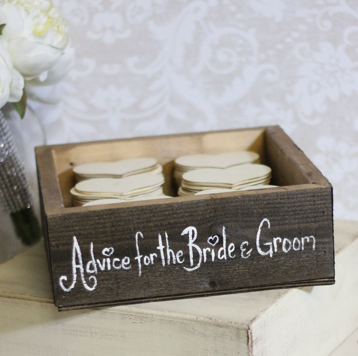 Rustic Guest Book Box Advice For The Bride and Groom Medium (item ...