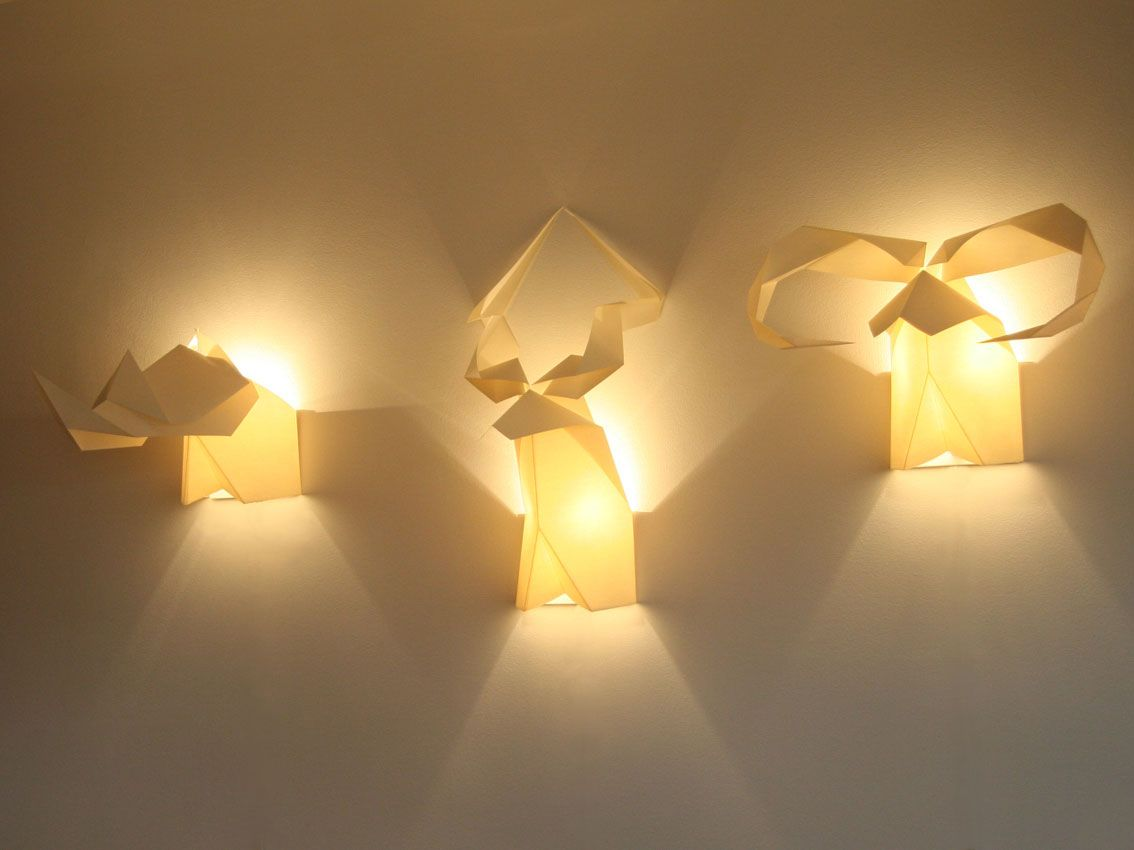 Cool Faucet Wall Lamp with Creative origami Sun Flower Shape for ... for Creative Paper Lamps  177nar