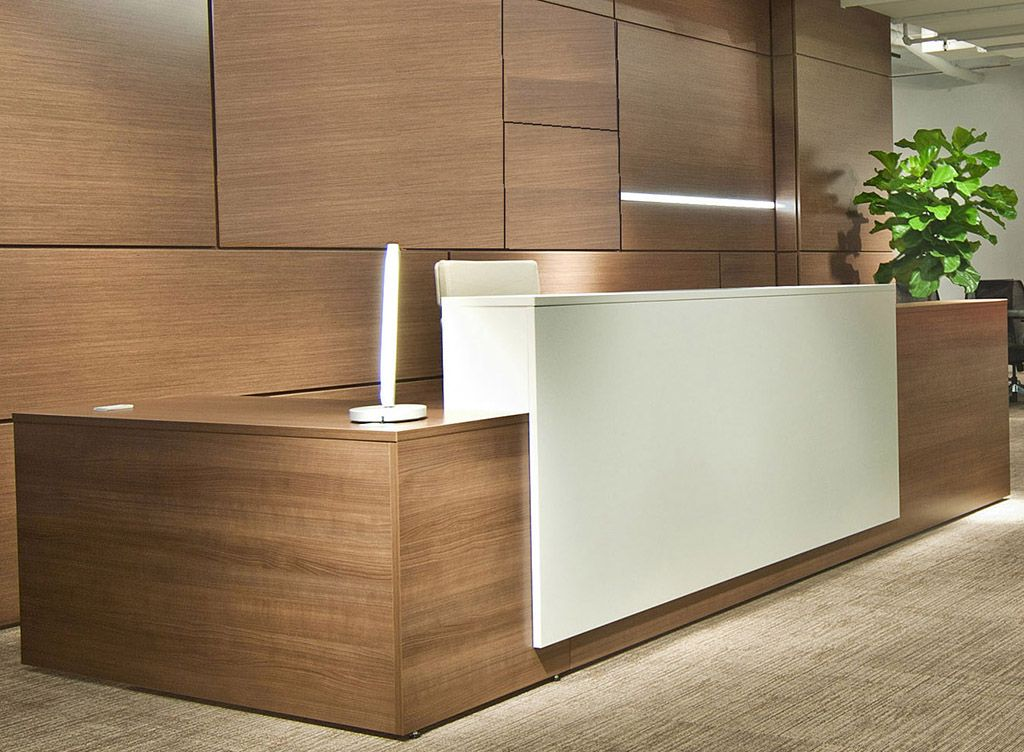 Contrasts Custom L Shaped Lobby Desk Right Return Modern Reception Desk Office Furniture Modern Reception Desk Design
