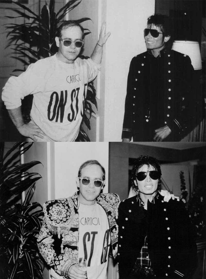 Elton John and Michael Jackson | Rare and beautiful celebrity photos