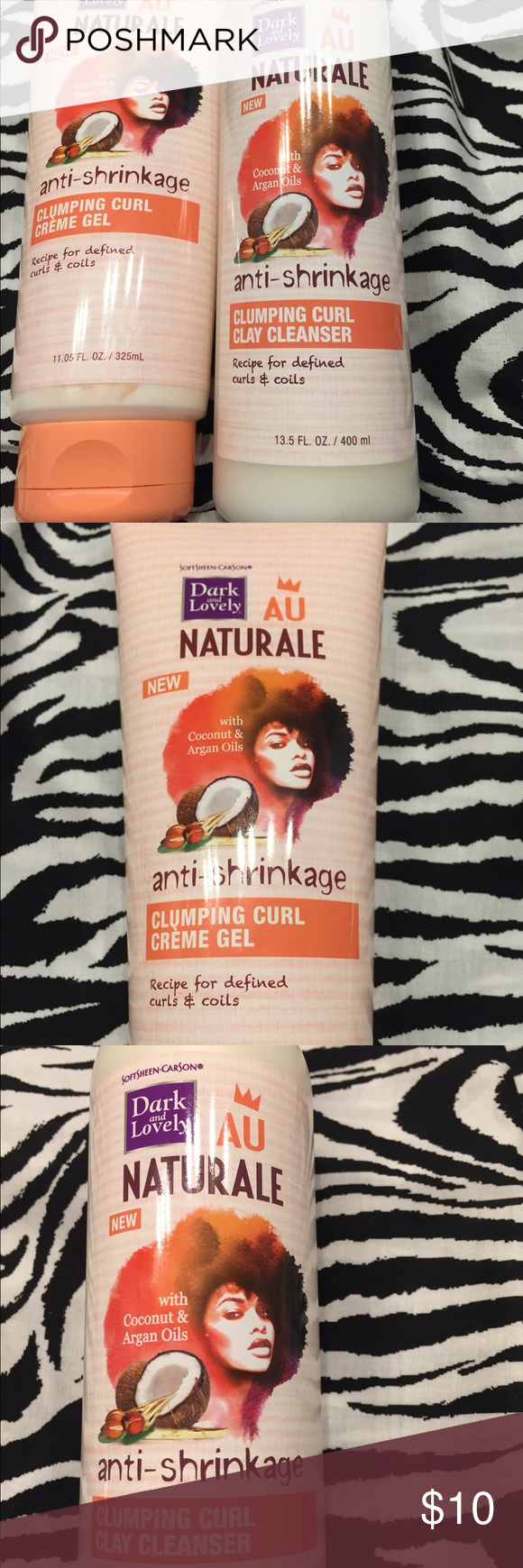 Au Naturale Clumping Curl Cleanser & Crème Gel NEVER USED