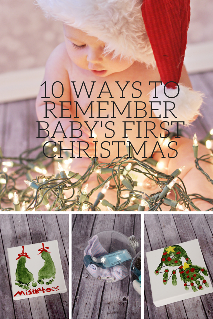 Infant Christmas Craft Ideas Part - 39: Housewife Eclectic: 10 Ways To Remember Babyu0027s First Christmas