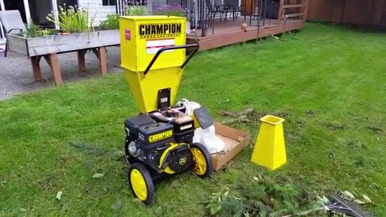 champion 3 inch wood chipper shredder review garden product