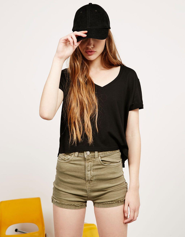 Short BSK sarga High Waist. Descubre ésta y muchas otras prendas en Bershka con nuevos productos cada semana