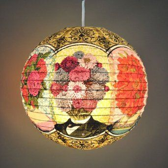 Blue Q Paper Lantern - Flower Heads  $10.99 & FREE Shipping on orders over $35