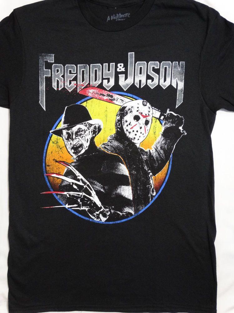 47b4637497b Freddy Krueger and Jason Voorhees Horror Ready To Attack T-Shirt   FreddyKruegerJasonVoorhees  GraphicTee