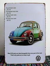 Antique VW Car Garage Wall Poster Vintage Metal Tin Signs Home Bar Decor