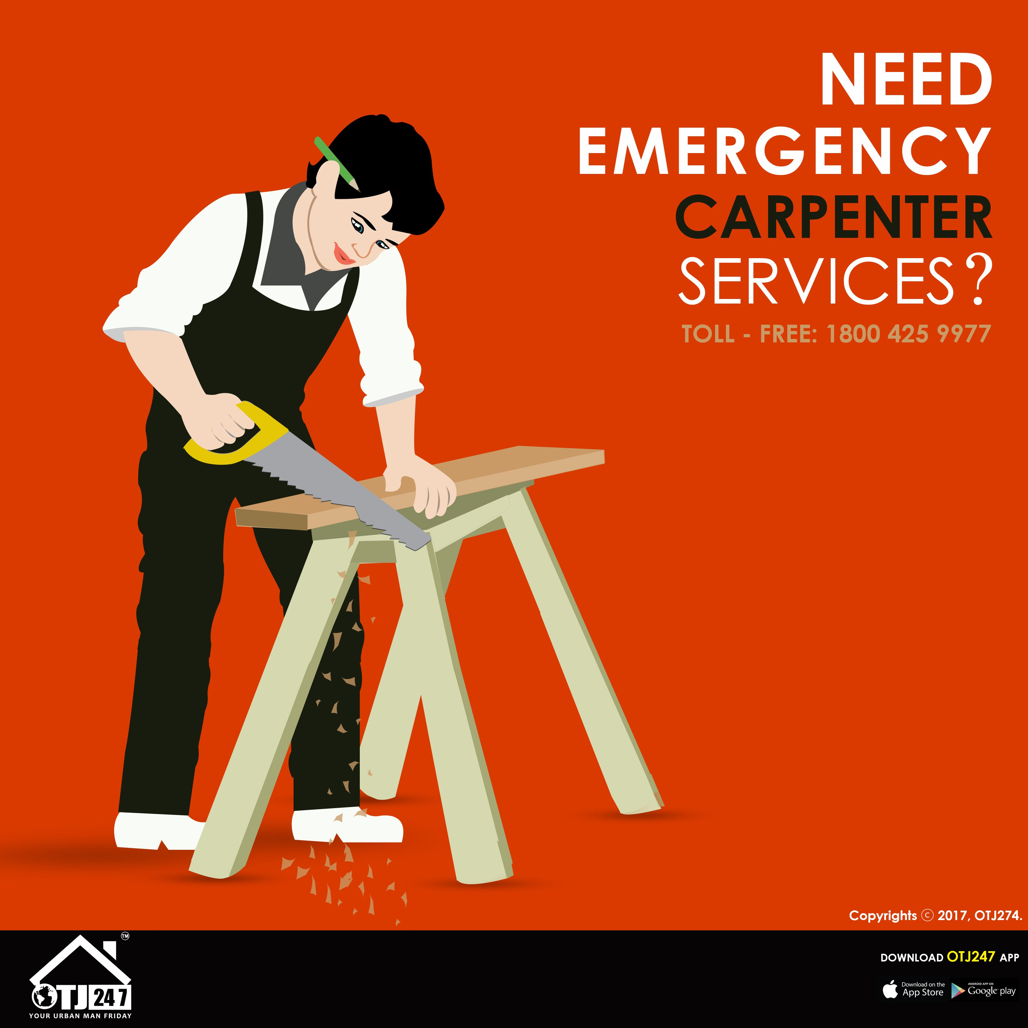 Need Emergency Carpentry Services? Book Now www.otj247
