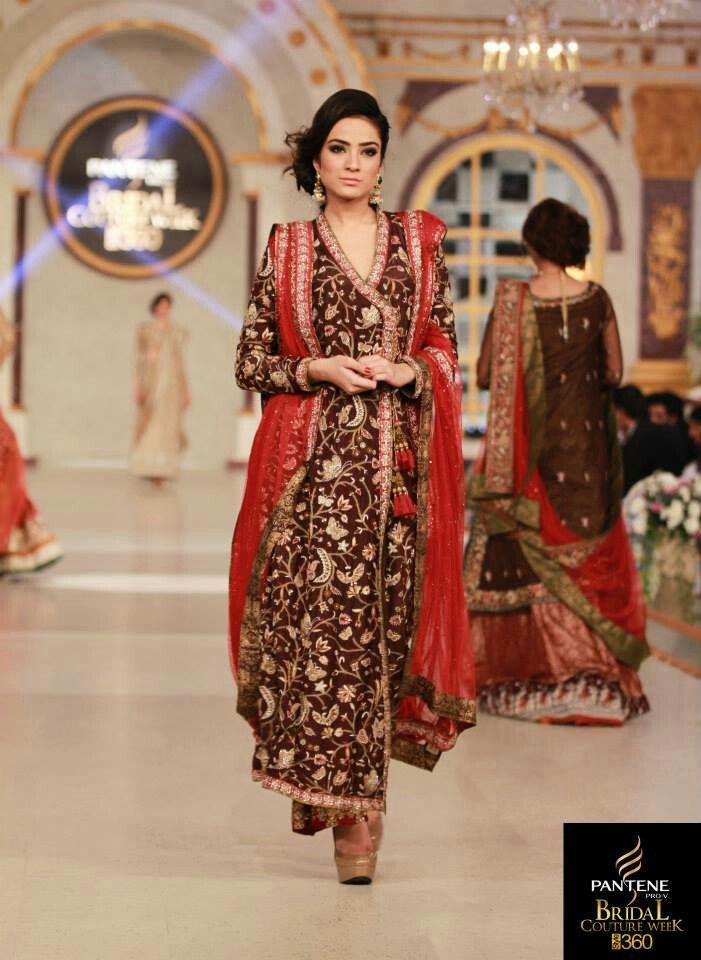 Nida Azwer Gorgeous Angrakha - looks like she has used the famed parsi gara embroidery here. The result is beautiful.