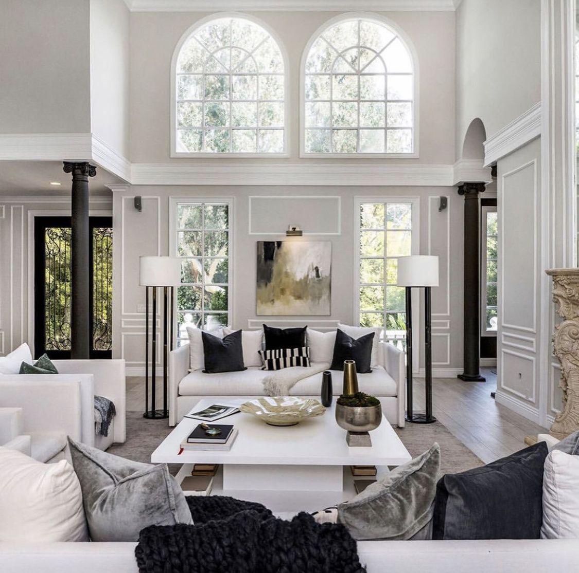 Pin By Hongman Lee On Black White Living Mobile Home Living Luxury Remodel Home Million dollar homes living rooms