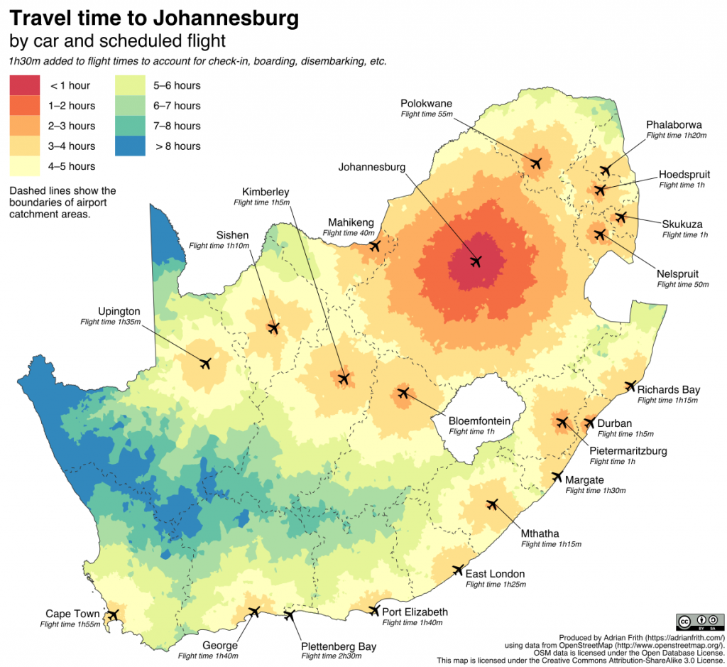 South Africa drive time map | Time travel, Map, Travel on per capita gdp map, drive time charlotte nc, drive time tucson az,