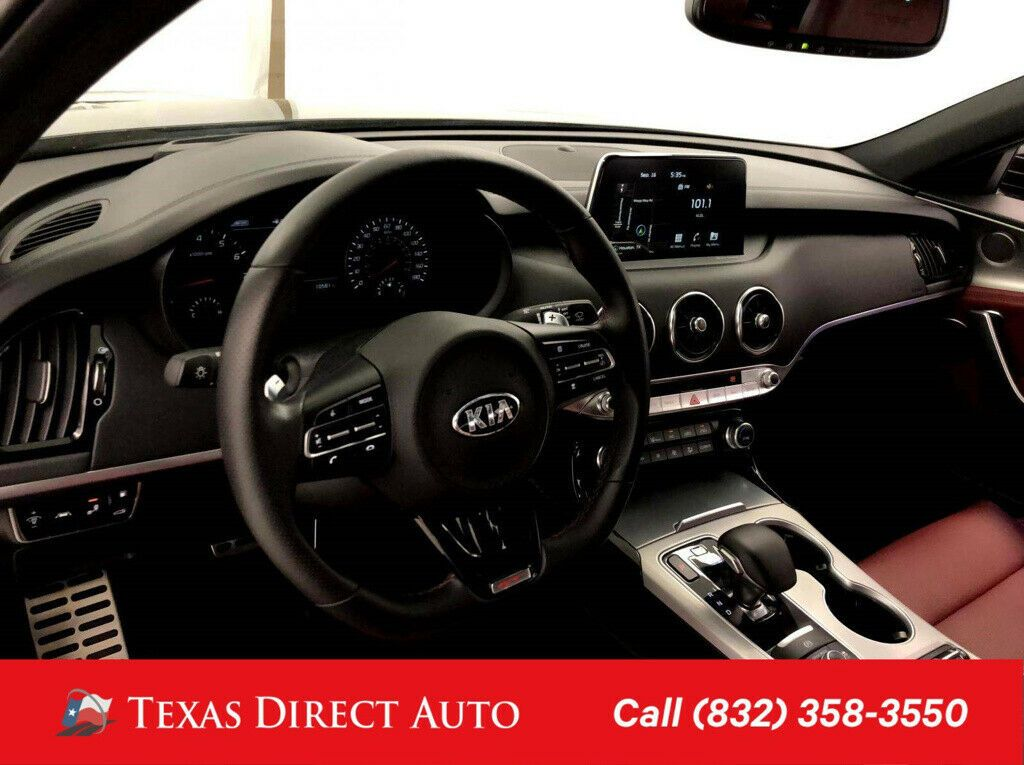 Used 2018 Kia Stinger Gt2 Texas Direct Auto 2018 Gt2 Used Turbo 3 3l V6 24v Automatic Awd Sedan Premium 2020 In 2020 Kia Stinger Kia Awd