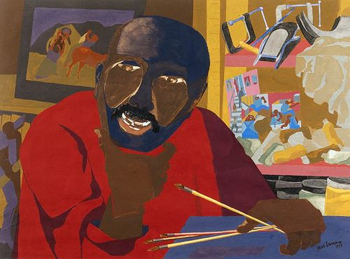 Image result for jacob lawrence self portrait