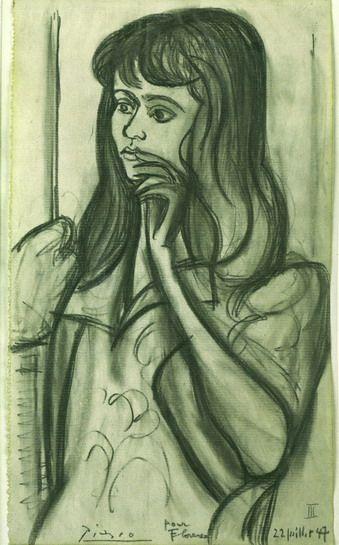 "Pablo Picasso - ""Portrait of Florence Loeb"". 1947"