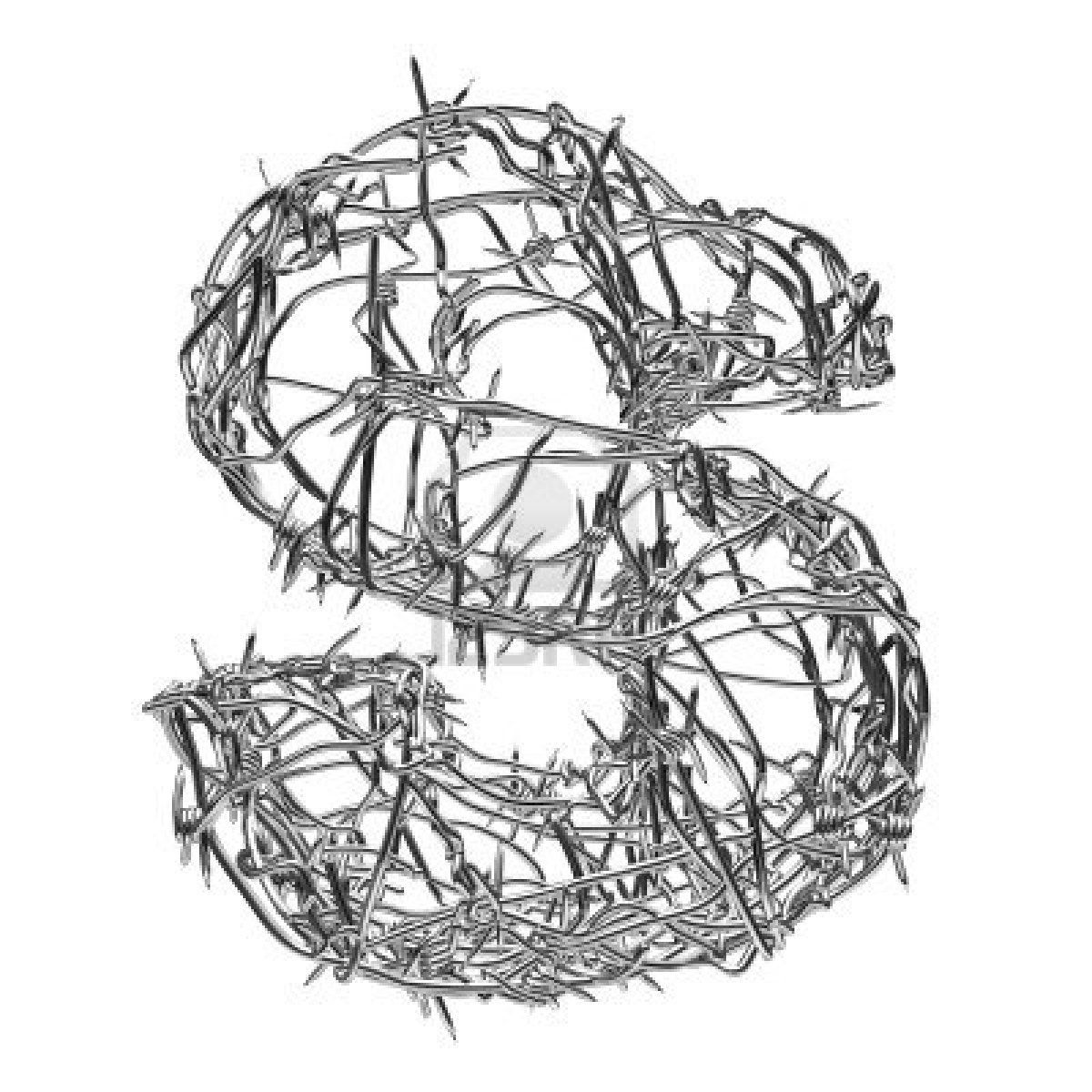Fantastic Barbed Wire Letters Composition - Wiring Schematics and ...