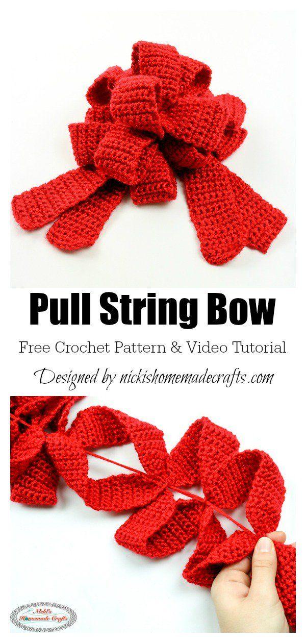 Photo of Gift bow free crochet pattern