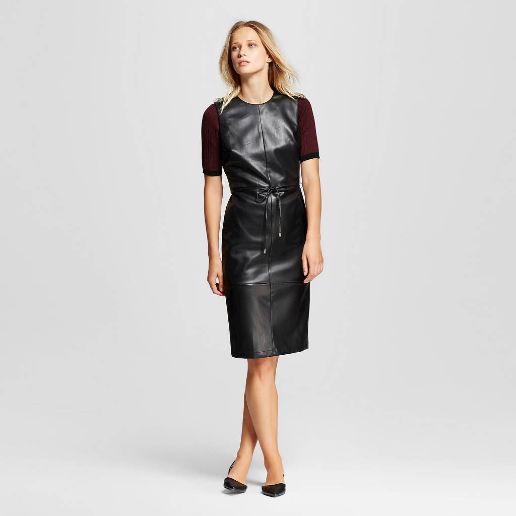 Women's Faux Leather Dress - Who What Wear™. Image 1 of 3.