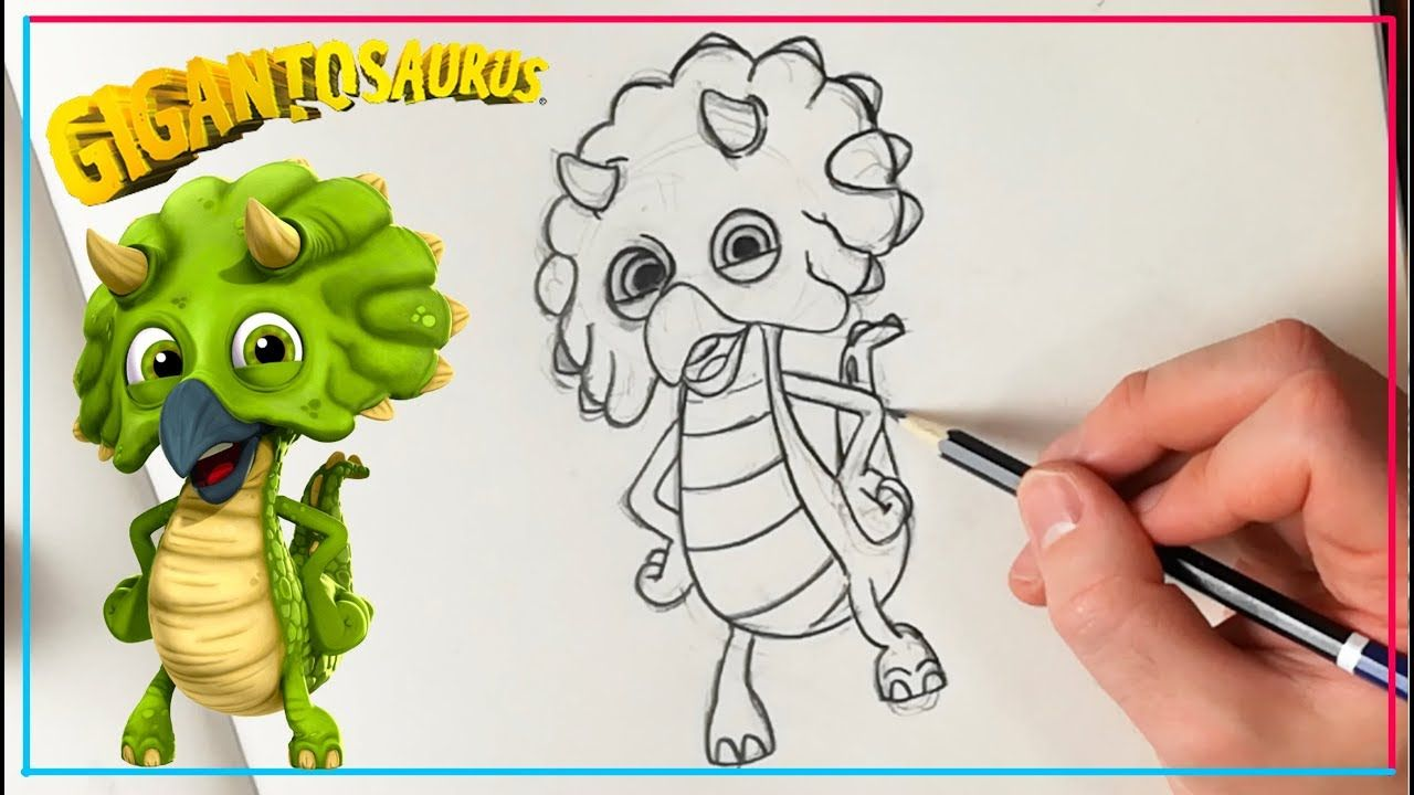 How to draw TINY from GIGANTOSAURUS ✏️  Drawings, Draw, Process art